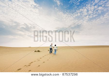 Happy Couple In A Dune