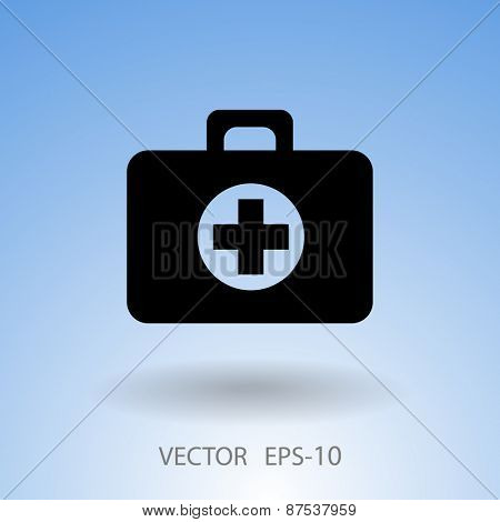 Flat icon of medical aid