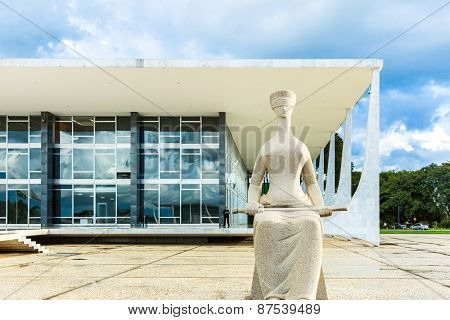 BRASILIA, BRAZIL - CIRCA MARCH 2015: Supreme Federal Tribunal in Brasilia, Brazil.