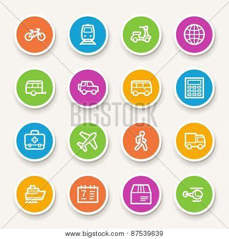 Transport web icons set