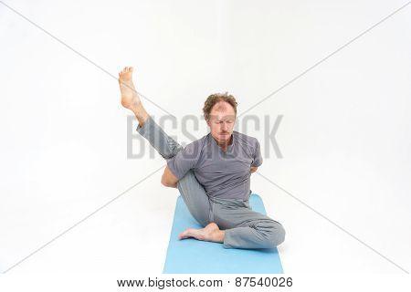 Yoga asanas.