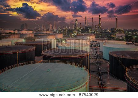 Oil Refinery And Oil Thank