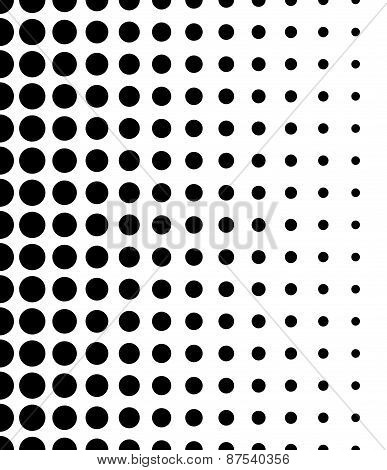 Vertically Seamless Black And White Dotted Pattern