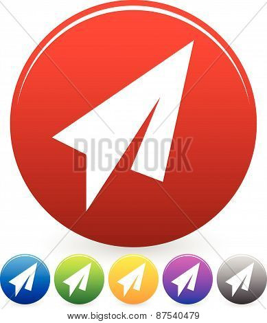Paper Plane Symbol With Circle Backgrounds - Abstract Paper Plane Symbols.