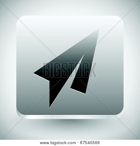 Minimal Paper Plane Icon. Air, Flight, Quickness Concepts.