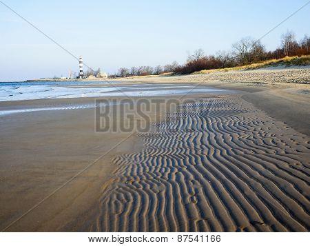 Sand Beach In Baltic Sea,