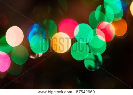Christmas Bokeh Background..