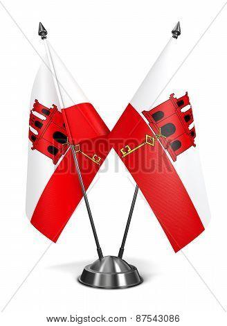 Gibraltar - Miniature Flags.