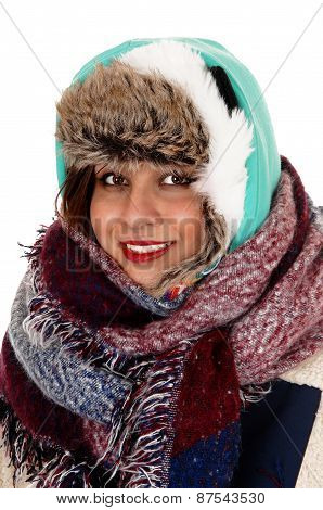 Bundled Up Young Woman.