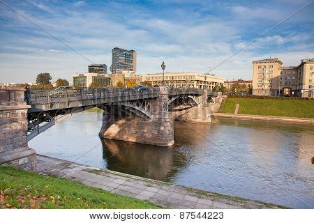 Zveryno Bridge In Vilnius