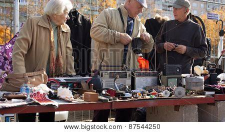 Flea Market In Vilnius
