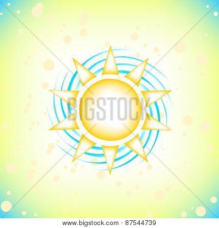 sun in summer sky