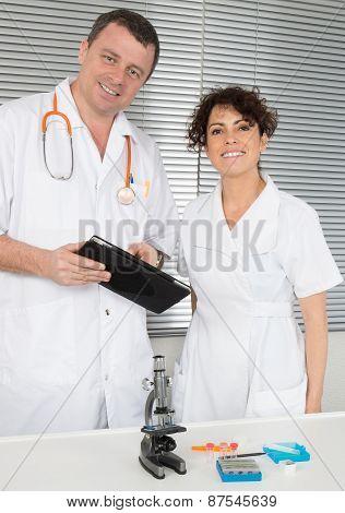 Happy Medical Team Of Doctors