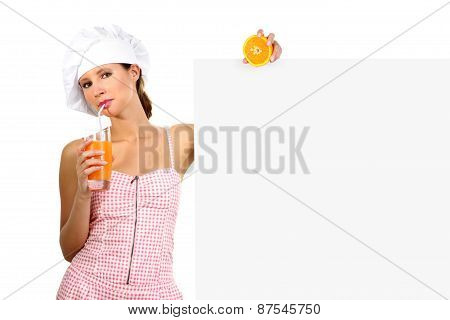 Happy Girl With Orange juice