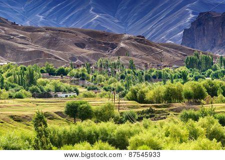 Aerial View Of Leh Ladakh Landscape, Jammu And Kashmir, India