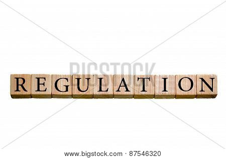 Word Regulation Isolated On White Background