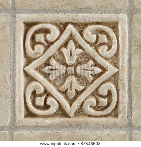 marble decorated background tiles travertine, mosaic
