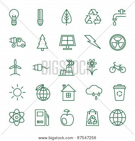 Icons Ecology And Environment