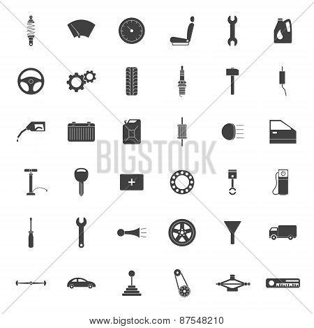 Simple Car Parts Icons