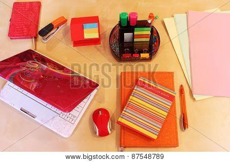 Background  Office Desktop For business lady