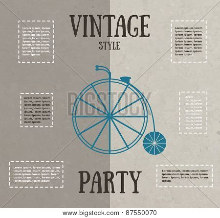 Vintage party card