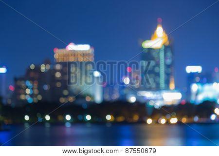 Cityscape at twilight time, cityscape bokeh, Blurred Photo