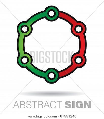 Communication Concept With Circle Sign