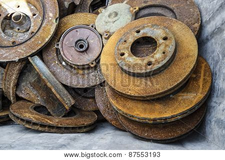 Old Rusty Mechanical Parts