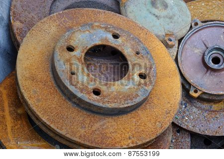 Old Rusty Brakes Disc