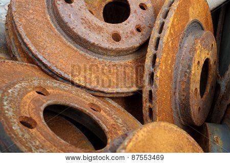 Closeup Of Mechanical Rusty-eaten Parts