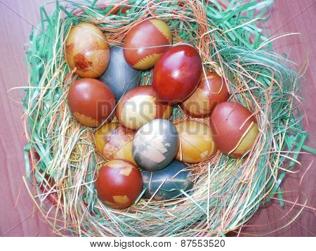 Easter eggs with the decoration