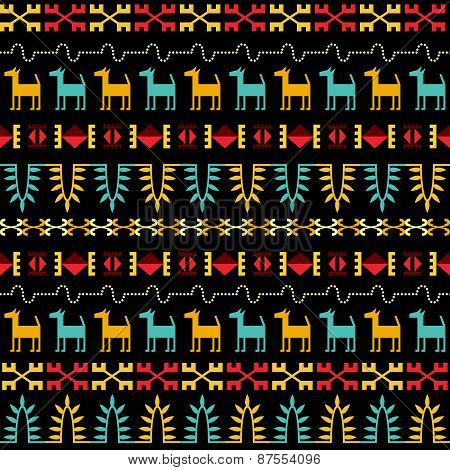 Inca Style Seamless Pattern