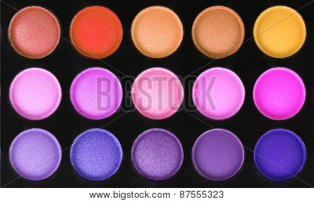 Palette Of Color Eyeshadows Isolated On White