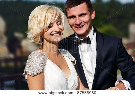 Wedding Couple Dope On The Mountain