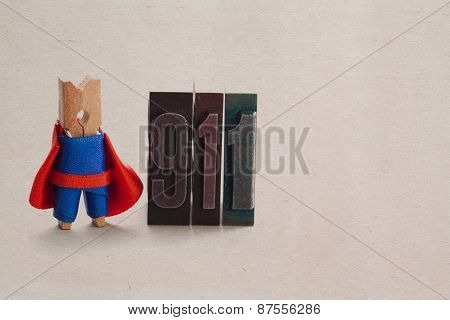 Superhero Clothespin