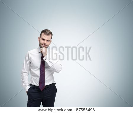 Young Businessman In A Formal Clothes.