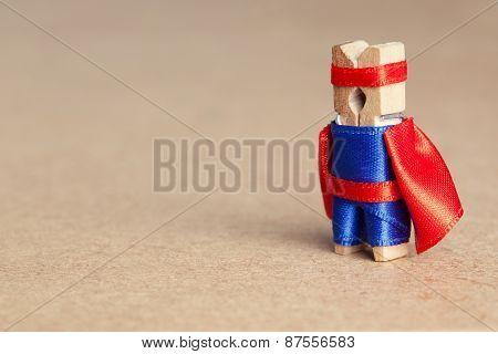 Clothespin Superhero