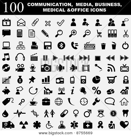 Hundred vector icons