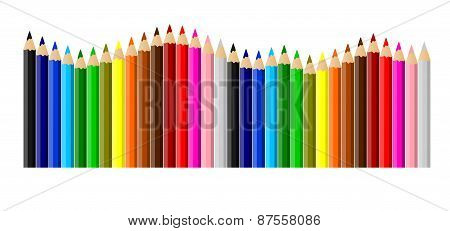 Colored Sorted Crayons