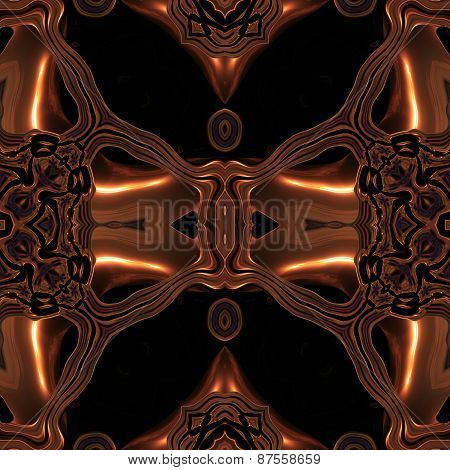 Abstract Metallic Bronze Viking Like Pattern Made Seamless
