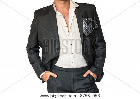 Disheveled Man In Suit