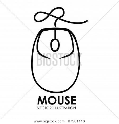 mouse icon design vector illustration eps10 graphic