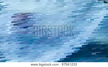 Abstract expressionism, fantastic blue landscape