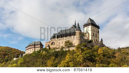 Karlstejn Castle In The Autumn Colors