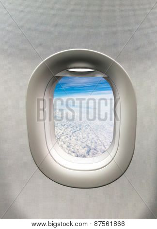 Looking Out The Window Of A Plane