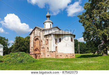 Church Of St. Paraskeva At Yaroslav's Court In Veliky Novgorod, Russia. Was Built In 1207