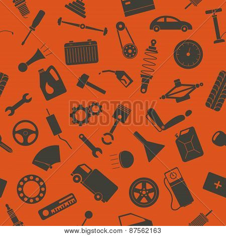 Seamless Background With Spare Parts