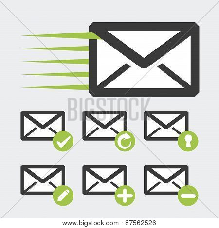 mail adn letters, Vector illustration