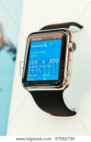 Apple Watch with passbook app