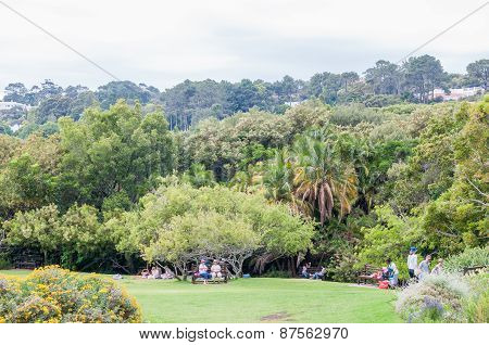 People At The Kirstenbosch National Botanical Gardens